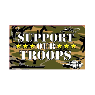Support Our Troops Flag - Life's a breeze GB Ltd