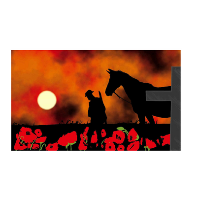 Lest We Forget. Warhorse Remembrance Flag - Life's a breeze GB Ltd