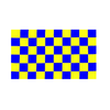 Blue And Yellow Checkered Flag - Life's a breeze GB Ltd