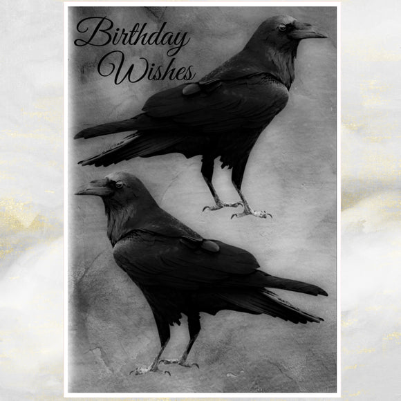 raven birthday card