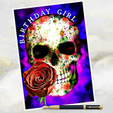 skull birthday card