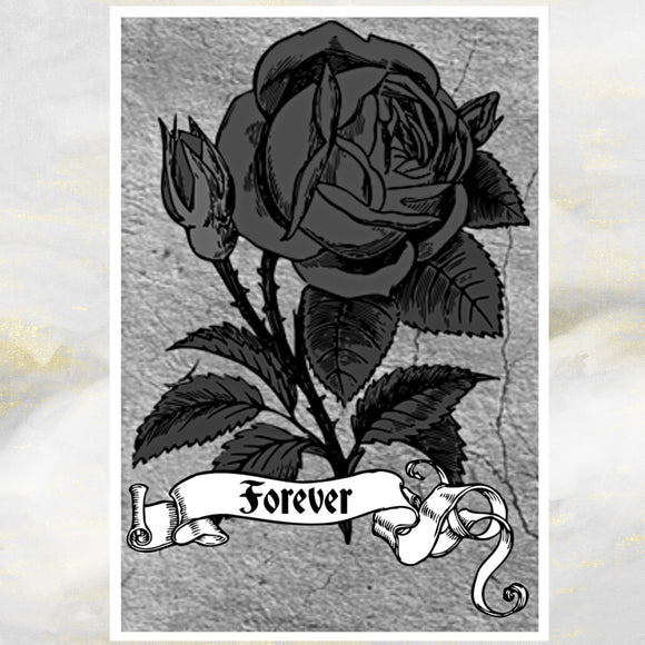 black rose card
