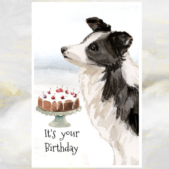 Border Collie greetings cards