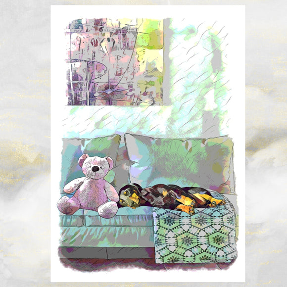 Funny Dog Greetings Card, Dachshund Dog Greetings Card, Dachshund Dog, Dog Birthday Cards, Dachshund Dog Card, Dog Cards, Dog.