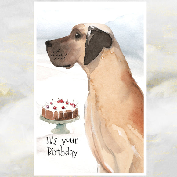 Great Dane dog greetings card