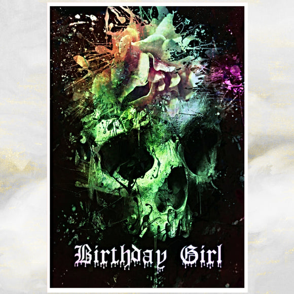 skulls  greetings card