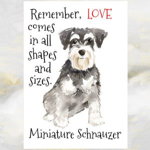Miniature Schnauzer Dog Greetings Card, Funny Dog Greetings Card, Schnauzer Dog Card, Miniature Schnauzer Dog, Dog Cards,  Dog Birthday Cards.