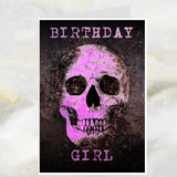 skull greetings card