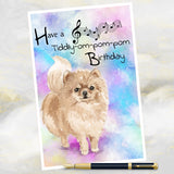 Pomeranian Dog Greetings Card, Dog Birthday Cards, Funny Dog Greetings Card, Pomeranian Dog Card, Pomeranian Dog, Dog Cards, Dog.