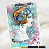Art deco style greetings card