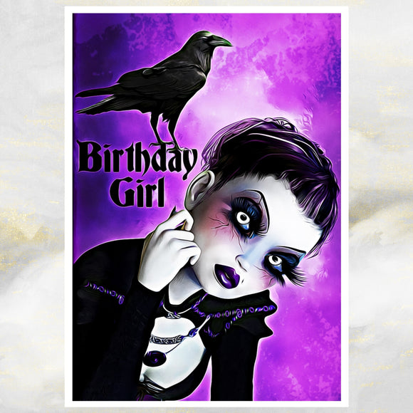 goth birthday girl