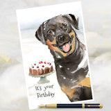 ROTTWEILER DOG GREETINGS CARD