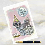 Shih Tzu Dog Greetings Card, Funny Dog Greetings Card, Shih Tzu Dog Card, Shih Tzu, Dog Birthday Cards, Dog Cards, Shih Tzu Dog.