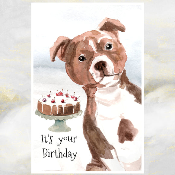 staffy card
