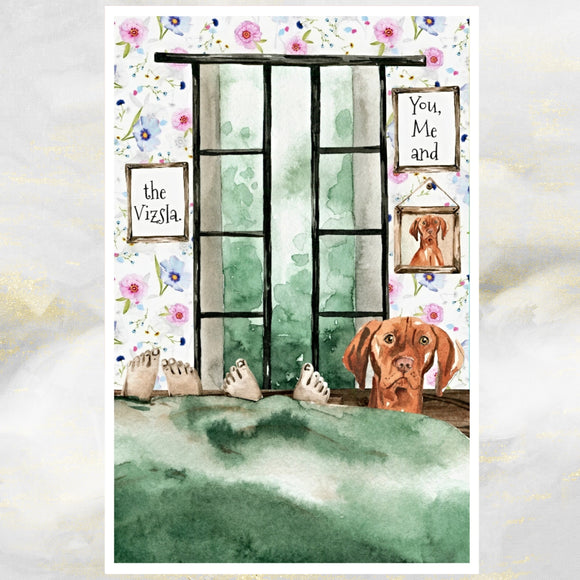 Vizsla dog greetings card