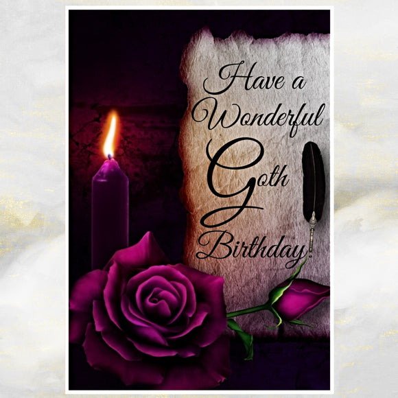 goth birthday card