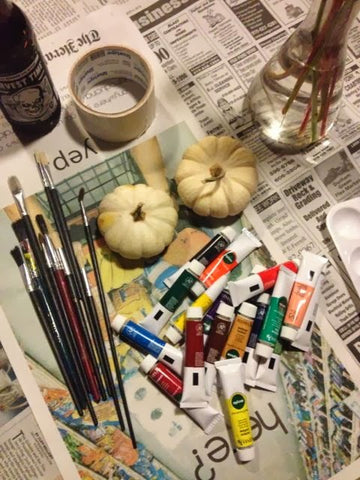 Simple directions for pumpkin painting