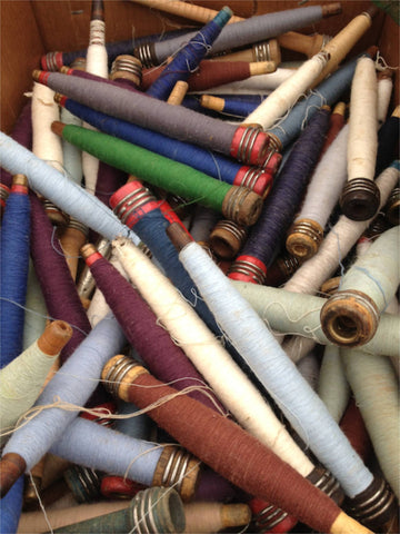 Thread spools are a fun vintage find in upstate NY.