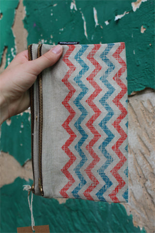 Chevron styled clutch or ipad case by Chewing the Cud