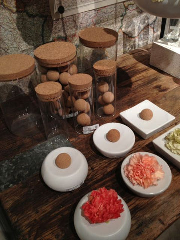 HomArt display at Market featuring ceramics and cork balls