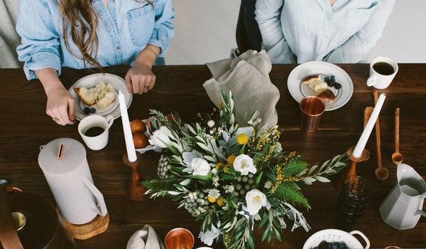A nature inspired home and tabletop gathering.