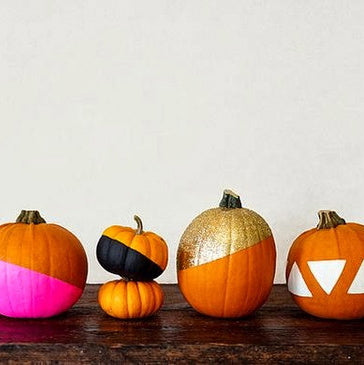 DIY paint dipping pumpkins for fall decor