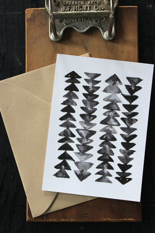 Arrow Pattern Print Note Card
