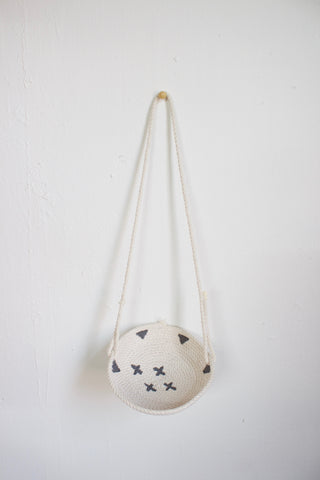 Grey Aztec Hanging Rope Bowl / Air Plant Holder