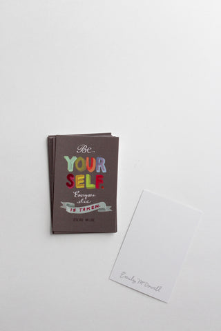 "Tiny Encouragement Cards, Set of 10: ""Be Yourself"""