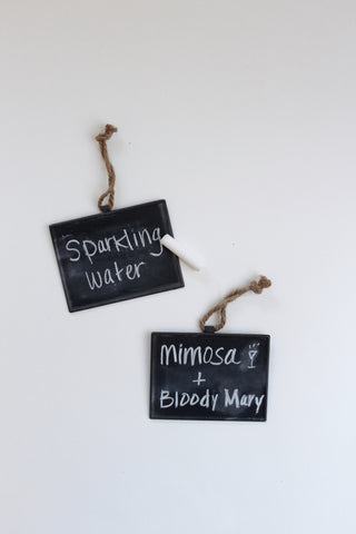 Hanging Metal Chalkboard Tags