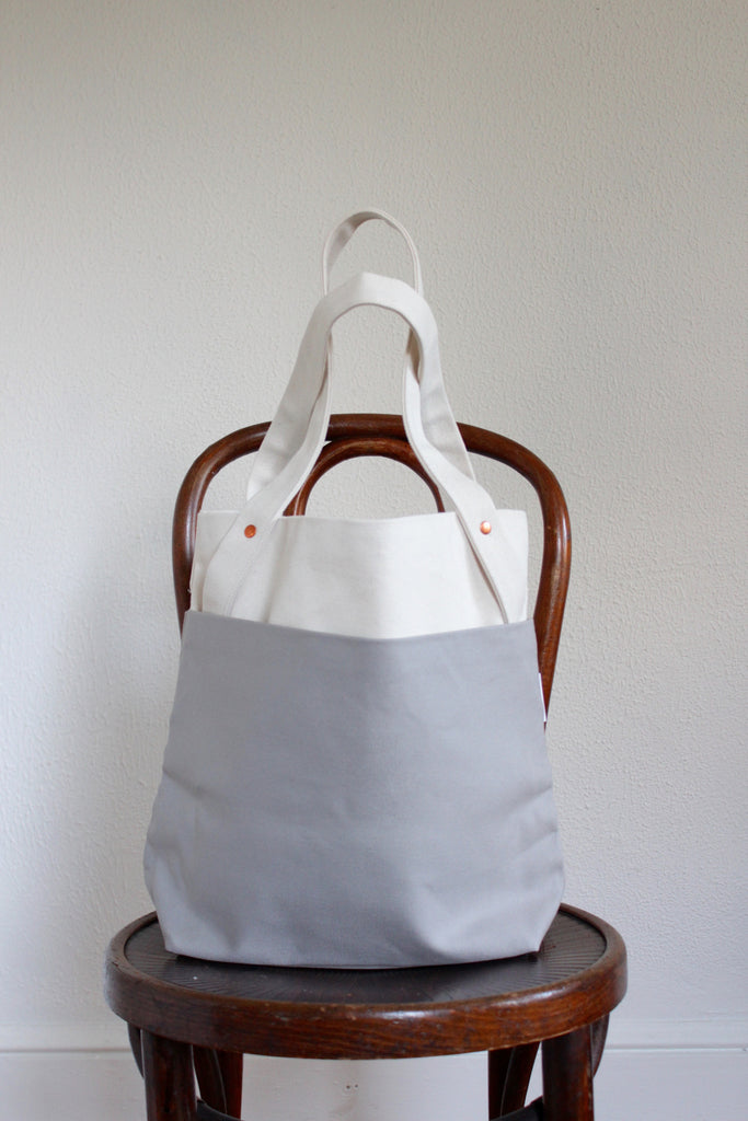 Vegan canvas carry-all tote made in the USA.