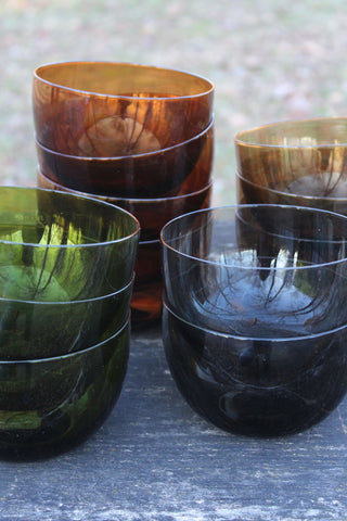 Handblown Tinted Glass Como Bowls