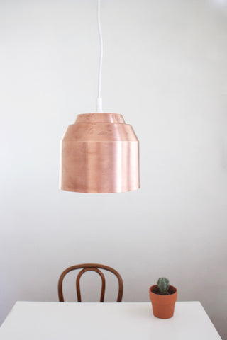 Pail Pendant Light - Copper