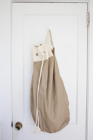 Handmade Canvas Laundry Duffle