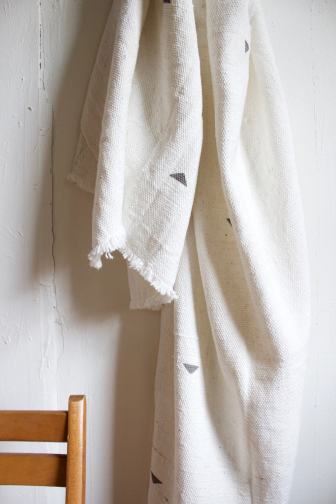 Cotton throw made in the USA by Caroline Z. Hurley.