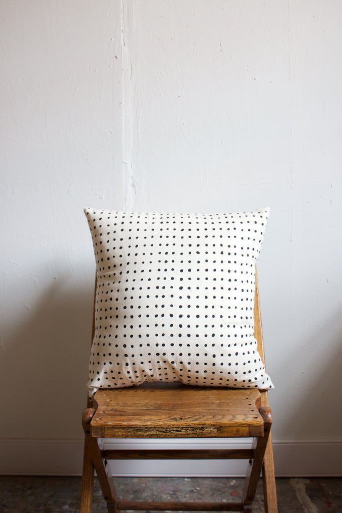 Little Korboose organic pins print cotton pillow.