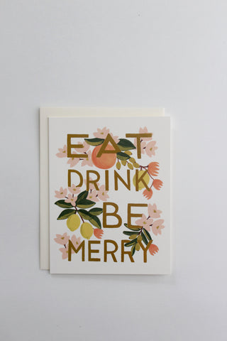 Eat Drink & Be Merry Christmas Card