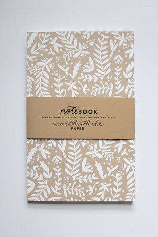 Forest Ferns Screen Printed Notebook