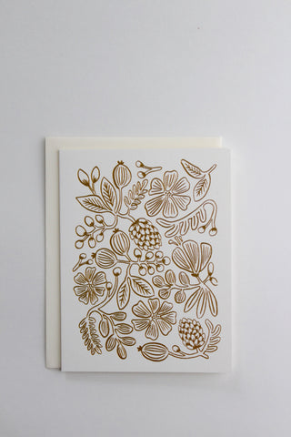 Golden Botanicals Greeting Card