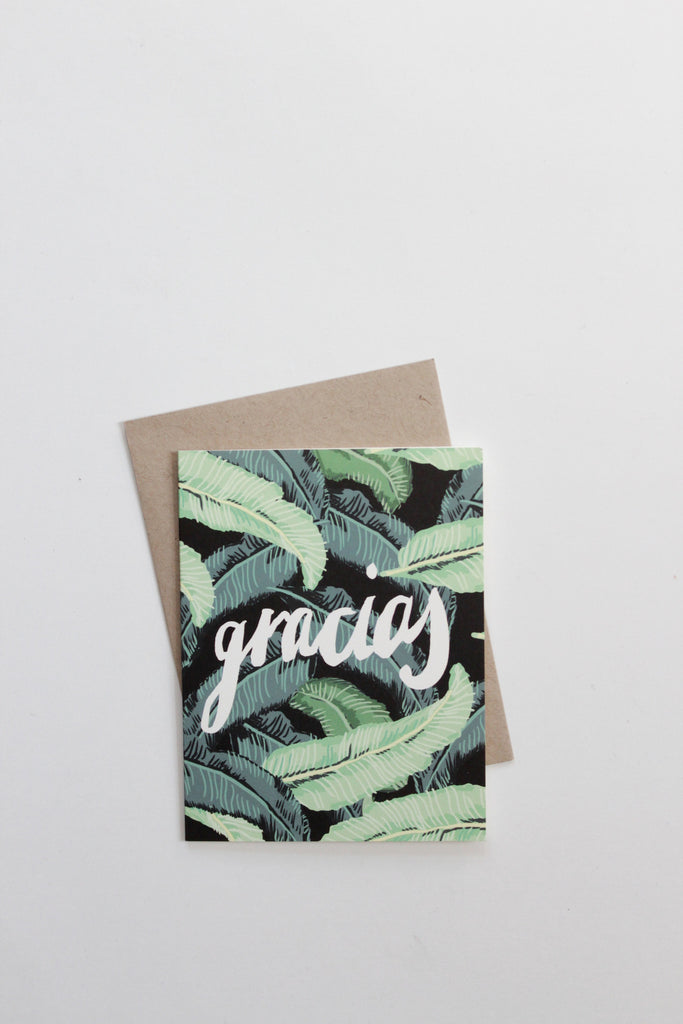 'Gracias' Botanical Thank You card set made in California by Daydream Prints.