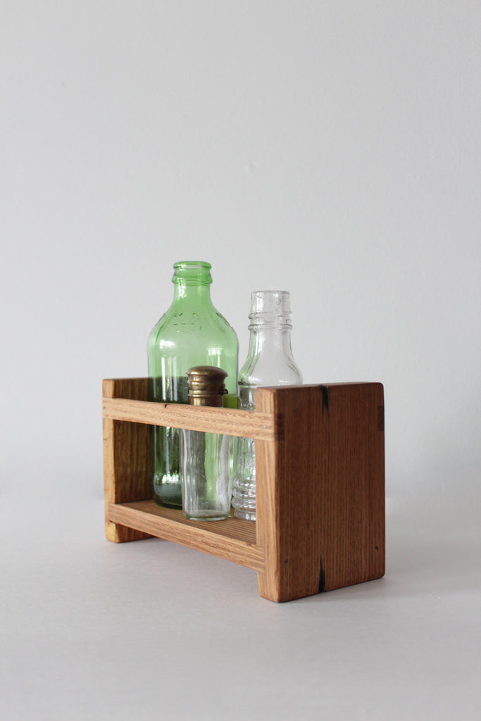 Reclaimed antique Cypress wood apothecary caddy built by hand in Pennsylvania.
