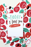 Today I love you because tiny love cards set.
