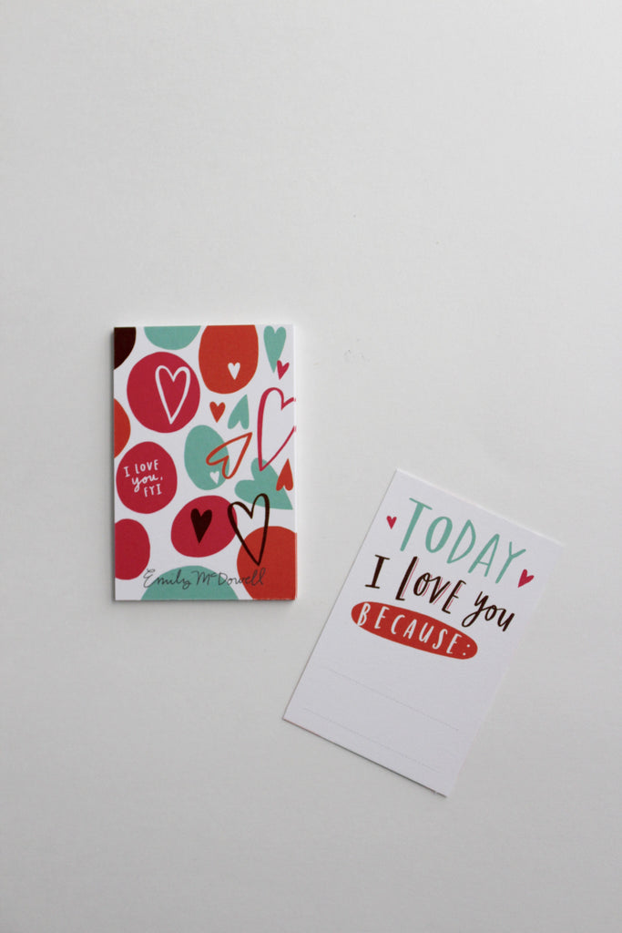 Today I love you because tiny encouragement greeting card set.