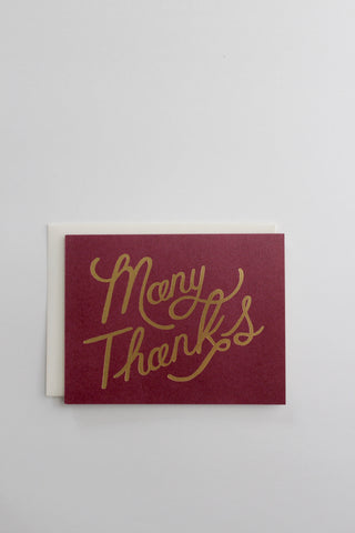 Many Thanks Gold Greeting Cards, Boxed Set