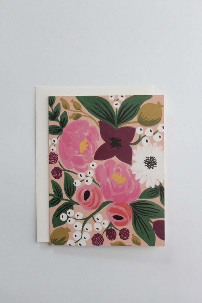 Floral peach blossoms greeting card made in the USA by Rifle Paper Co.