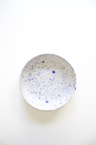 Stoneware Indigo Speckle Serving Bowl