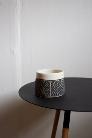 Matte Black Porcelain Whiskey Cup / Coffee Mug