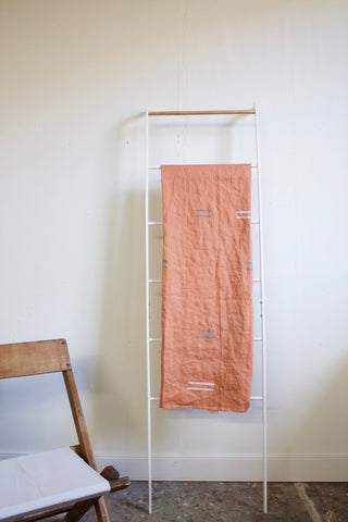 Linen Salmon Throw