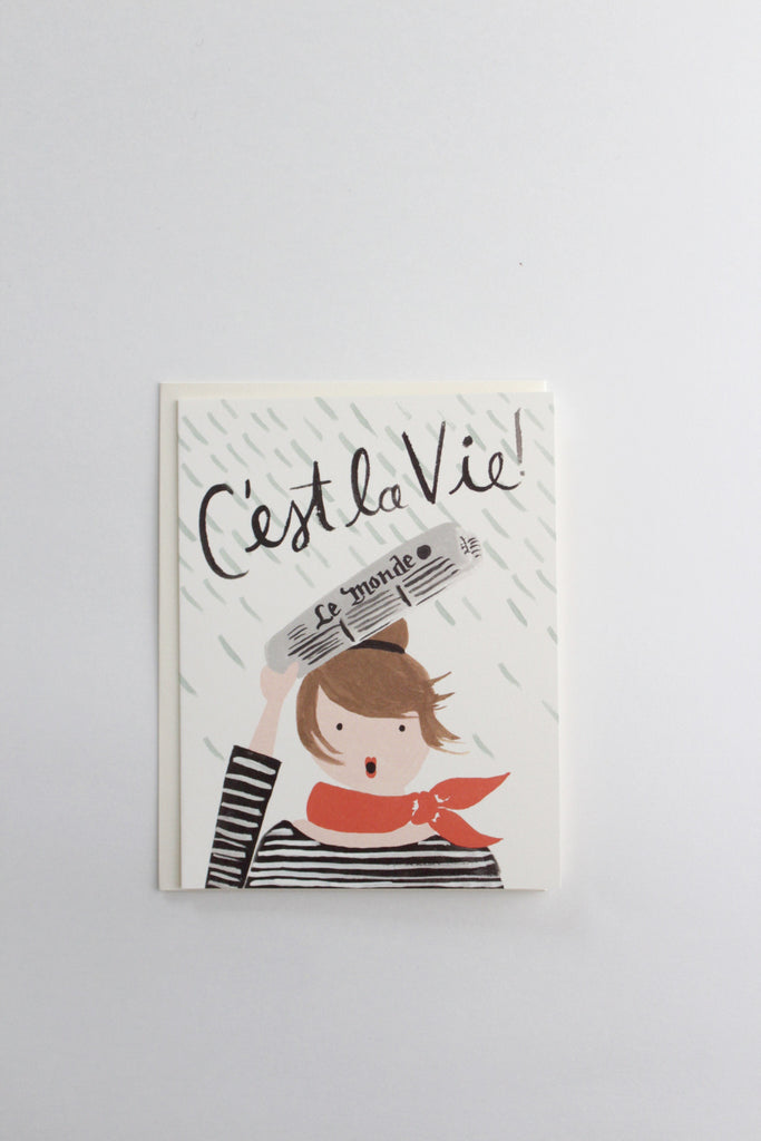 C'est La Vie cheer up greeting card hand illustrated by Rifle Paper Co.