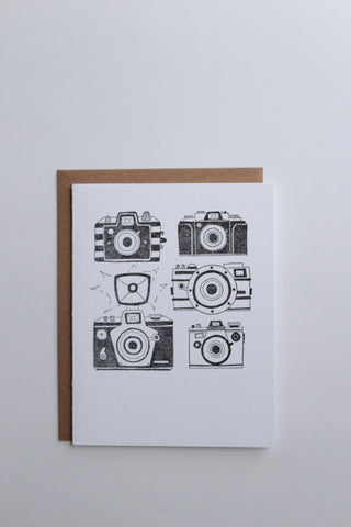 Vintage Camera Letterpress Greeting Card